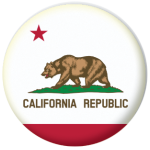 California State Flag 58mm Mirror Keyring